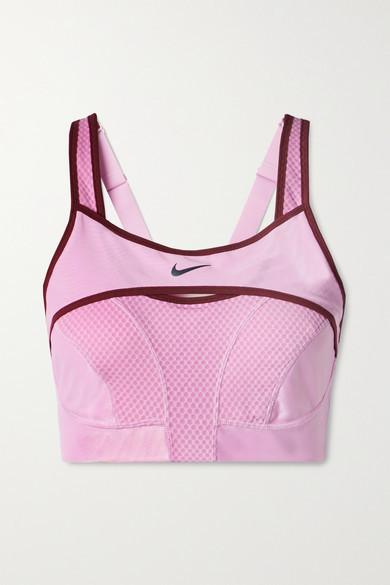Nike Alpha Ultrabreathe Cutout Mesh-paneled Dri-fit Sports Bra - Baby pink
