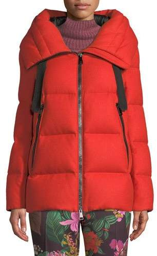 Moncler Serin Virgin Wool Puffer Jacket w/ Hood