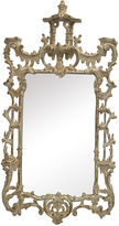 One Kings Lane Vintage Whitewash Chinese Chippendale Mirror