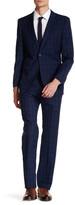 English Laundry Check Two Button Peak Lapel Suit