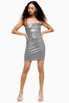 Topshop PETITE Metallic Foil Bodycon Dress