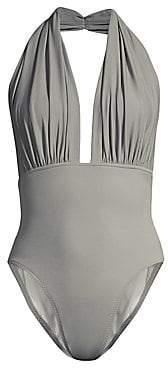 Women`s Halter Low Back One-Piece Swimsuit