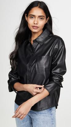 Habitual Taylor Faux Leather Shirt
