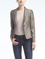 Banana Republic Classic-Fit Sharkskin Blazer