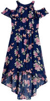 My Michelle mymichelle Floral Print Hi-Low Dress (Big Girls)