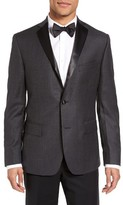JB Britches Men's Classic Fit Houndstooth Wool Dinner Jacket