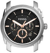 Fossil Machine Chronograph Rose Goldtone Stainless Steel Case