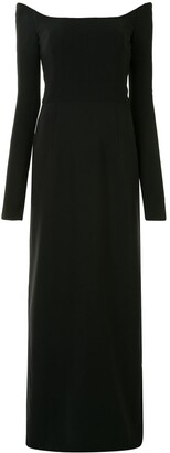 Carolina Herrera Off-The-Shoulder Long-Sleeve Dress