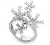 Damiani 18K White Gold Diamond Snowflake Ring