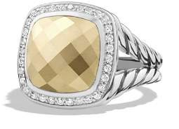 David Yurman Albion Ring with Gold Dome and Diamonds with 18K Gold