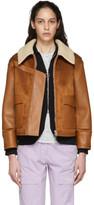 Stella McCartney Brown Skin Free Skin Jacket