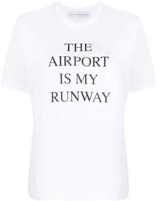 Victoria Beckham slogan print T-shirt