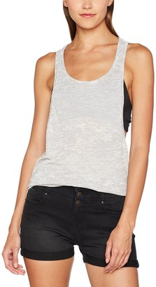 Urban Classics Women's Ladies Melange Burnout Loose Tank Sports Top