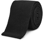 Reiss Shaun - Slim Silk Tie in Black, Mens