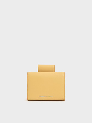 Charles & Keith Top Tab Snap Button Wallet
