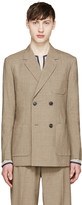 Toga Virilis Brown Wool Double-Breasted Blazer
