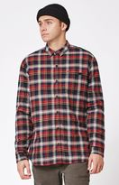 Globe Camden Plaid Flannel Long Sleeve Button Up Shacket