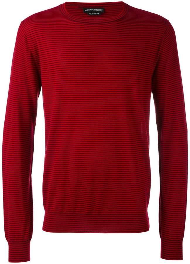 Alexander McQueen slim striped jumper