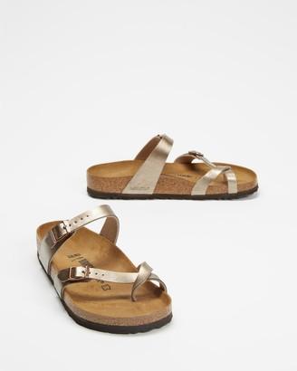 Birkenstock Women's Brown Flat Sandals - Mayari Birko-Flor Regular - Women's - Size 36 at The Iconic