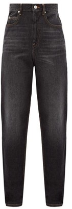 Etoile Isabel Marant Corsy High-rise Tapered-leg Jeans - Black