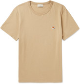 MAISON KITSUNÉ Slim-Fit Fox-Embroidered Cotton-Jersey T-Shirt
