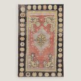 "4'8""x7'8"" Vintage Soft Floral Medallion Turkish Area Rug"