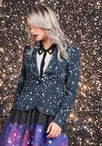 ModCloth Stargazing Splendor Blazer in Constellations in 3X
