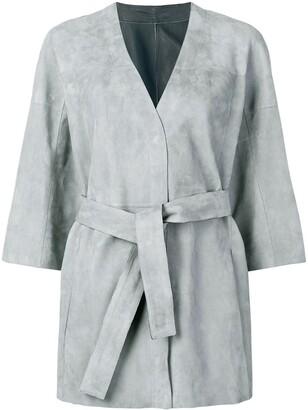 Drome wrap around midi jacket