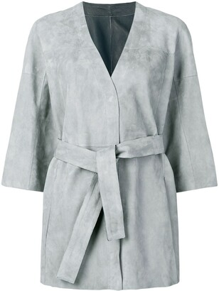 Drome Wrap Around Midi Jacket