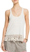 Scotch & Soda Fringed Linen Tank