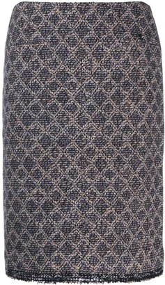 Chanel Pre-Owned 2004's geometric pattern skirt