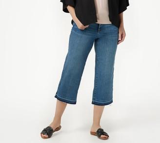 NYDJ Wide Leg Capri Jeans with Released Hem -Rhodes