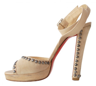 Christian Louboutin Beige Suede Sandals