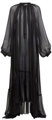 Ann Demeulemeester Balloon-sleeve Chiffon Maxi Dress - Black