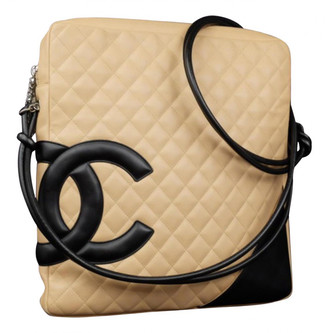 Chanel Cambon Beige Leather Handbags