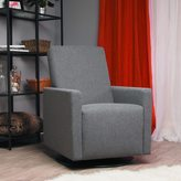 Dutailier Ultramotion by Lungo Upholstered Dark Grey Swivel Glider