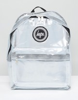 Hype Transparent Backpack With Check