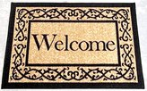 "Ottomanson Ottohome Collection (Machine-Washable/Non-Slip) Welcome Door Mat Rug, 20"" x 30"", Beige"
