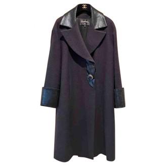 Chanel Purple Wool Coats