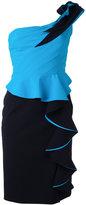 Capucci ruffled one-shoulder dress - women - Polyamide/Polyester/Spandex/Elastane - 40