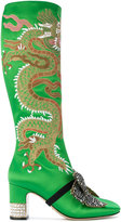 Gucci dragon under-the-knee boots