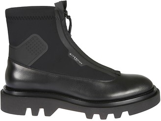 Givenchy Panelled Leather Combat Boots