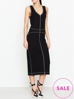 McQ Zip Front Contrast Dress
