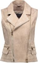 Balmain Asymmetric suede vest