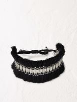 White Stuff Tassel cuff bracelet