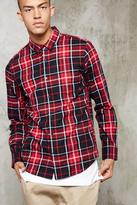 Forever 21 FOREVER 21+ Plaid Flannel Pocket Shirt