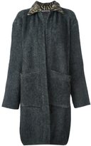 Rochas single breasted coat - women - Silk/Polyamide/Spandex/Elastane/Virgin Wool - 40