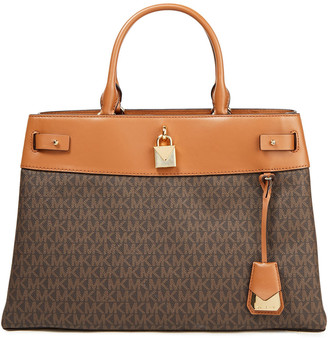 MICHAEL Michael Kors Gramercy Logo-print Faux Textured-leather Tote