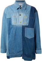 Facetasm denim patchwork shirt - men - Cotton - 3