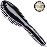 Gideon Heated Hair Brush Straightener - Innovative Hair Straightener / Get Salon Quality Straight Hair in Minutes [UPGRADED VERSION]